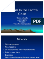 Minerals In the Earth's Crust
