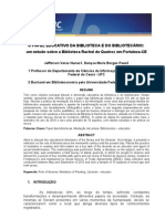 O PAPEL EDUCATIVO DA BIBLIOTECA E DO BIBLIOTECÁRIO - um estudo sobre a Biblioteca Rachel de Queiroz em Fortaleza-CE