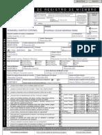 Ficha de Registro de Bautismo APCE