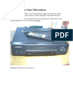 Desguazando Un Video VHS Moderno