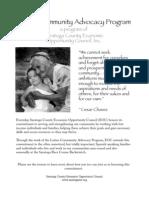 Latino Community Advocacy Program Flyer