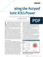 Calculating the Acrysof Toric´s Power