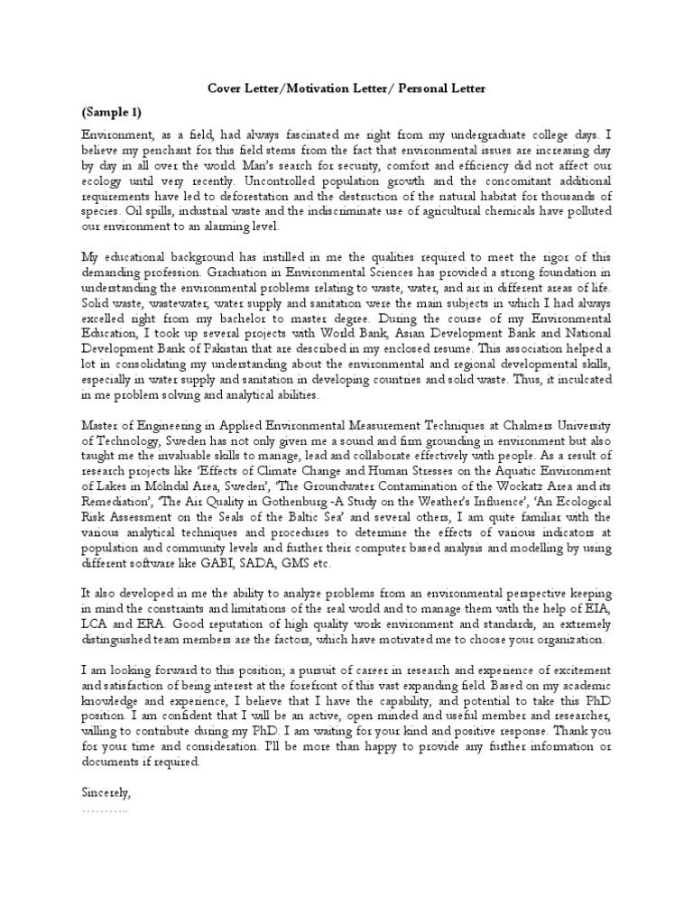 Samples of cover letter motivation letter personal motivation letter samples of cover letter motivation letter personal motivation letter pdf may 2 2008 7 01 pm lte telecommunication doctor of philosophy spiritdancerdesigns Images
