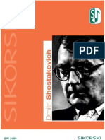 Shostakovich - Chronological List of Works