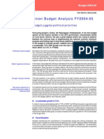 Budget Analysis FY2004-05