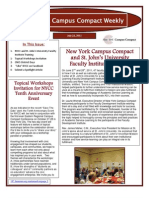 7-22-11 New York Campus Compact Weekly