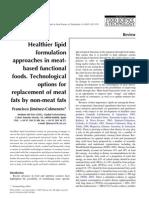 Funcionais-opções para a Substituição de gordura em prod carneos