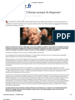 Article Europe Helmut Schmidt