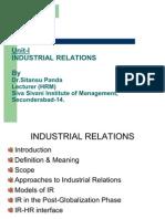 Industrial Relations Unit-I Session-II & III