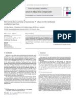 Electrocatalytic Activity of Nanosized Pt Alloys
