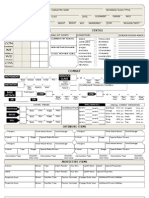 Custom Character Sheet