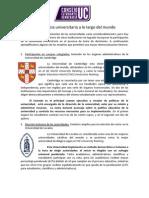 Minuta 1 - Democracia Universitaria en El Mundo