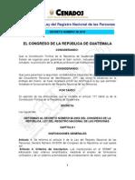 Reformas Al Renap Decreto 39-2010