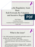 Asset Base Roll Forward or Re-Valuation - Dr Darryl Biggar