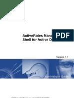 Active Roles MgmtShellForAD 11 Admin Guide English