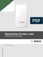 Manual Aquecedores de Agua a Gas GWH300D