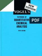 Vogel's - Textbook of Quantitative Chemical Analysis (5th Edition; Longmann)