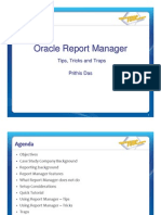 Oracle Report Manager Tips Tricks Traps