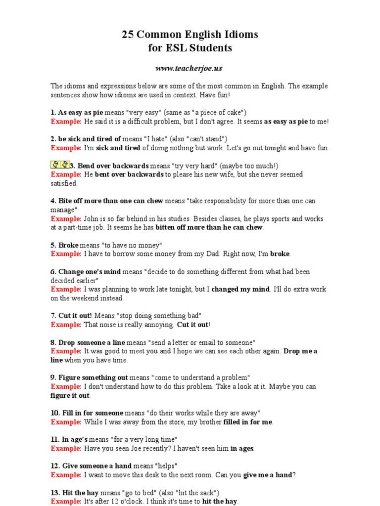 25 Common English Idioms Christmas And Holiday Season Yin And Yang