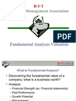 Fundamental Analysis Valuation