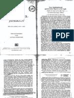 Schopenhauer Jahrbuch - 1949-50
