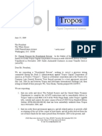 Tropos Request for Presidential Review-Obama June 2009