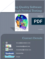 Delivering Quality Software Through Formal Testing