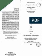 Schopenhauer, Philosophische Vorlesung 04