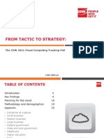 CDW Cloud Tracking Poll Report 0511