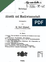 Beitraege zur Akustik und Musikwissenschaft (1909-04-Heft)
