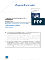 Perspective du développement mondiale 2010 OCDE - Summary