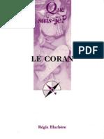 Le Coran - Régis Blachère - Que sais-je