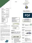 Newsletter 24 July 2011