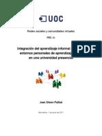 Integración del aprendizaje informal mediante  entornos personales de aprendizaje (PLE) en una universidad presencial