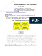 Evaluating Teaching - 3 Pp Synopsis