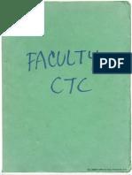 Green CTC Faculty Sketchbook