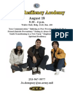 Youth Resiliency Academy Aug 18
