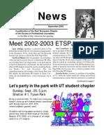 September 2002 Spot News