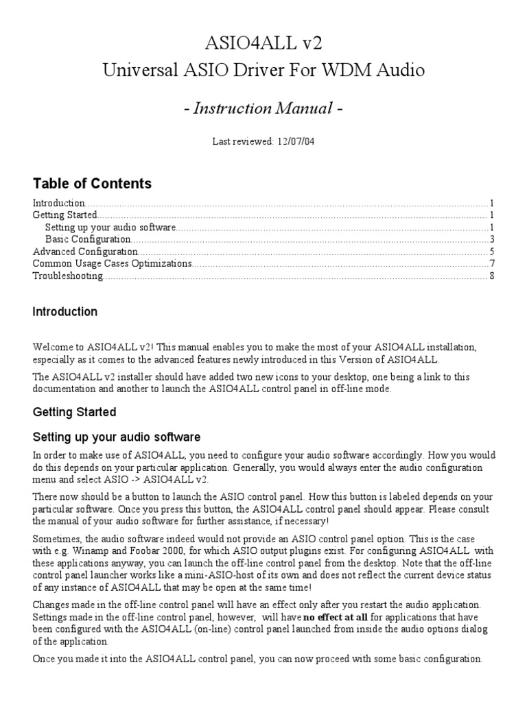 asio4all v2 instruction manual