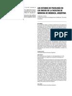 Calabresi, C Los estudios de psicología en la Facultad de Medicina de Mendoza