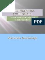 international economics - absolute advantage powerpoint