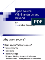 Open source, WS-Standards and Beyond