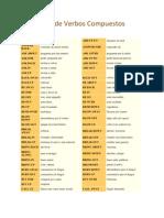 Lista de Verbos Compuestos