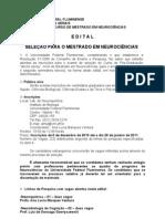 NEUROCIENCIAS_Edital_mestrado_2011
