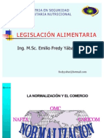 CLASE 8 LEGISLACIÓN ALIMENTARIA