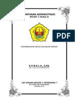 Format Administrasi Kelas pada Sekolah Dasar