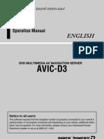 AVIC-D3 Operation Manual