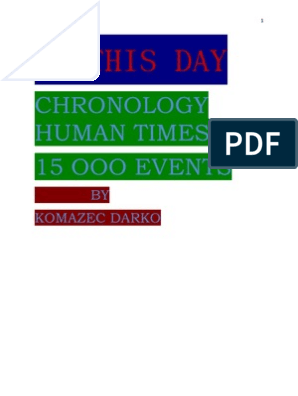 On This Day-Chronology Times | United Kingdom | The United