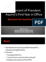 MGG Presentation on Assessment of Aquino Administration July 22, 2011