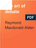 Alden (1900) - The Art of Debate